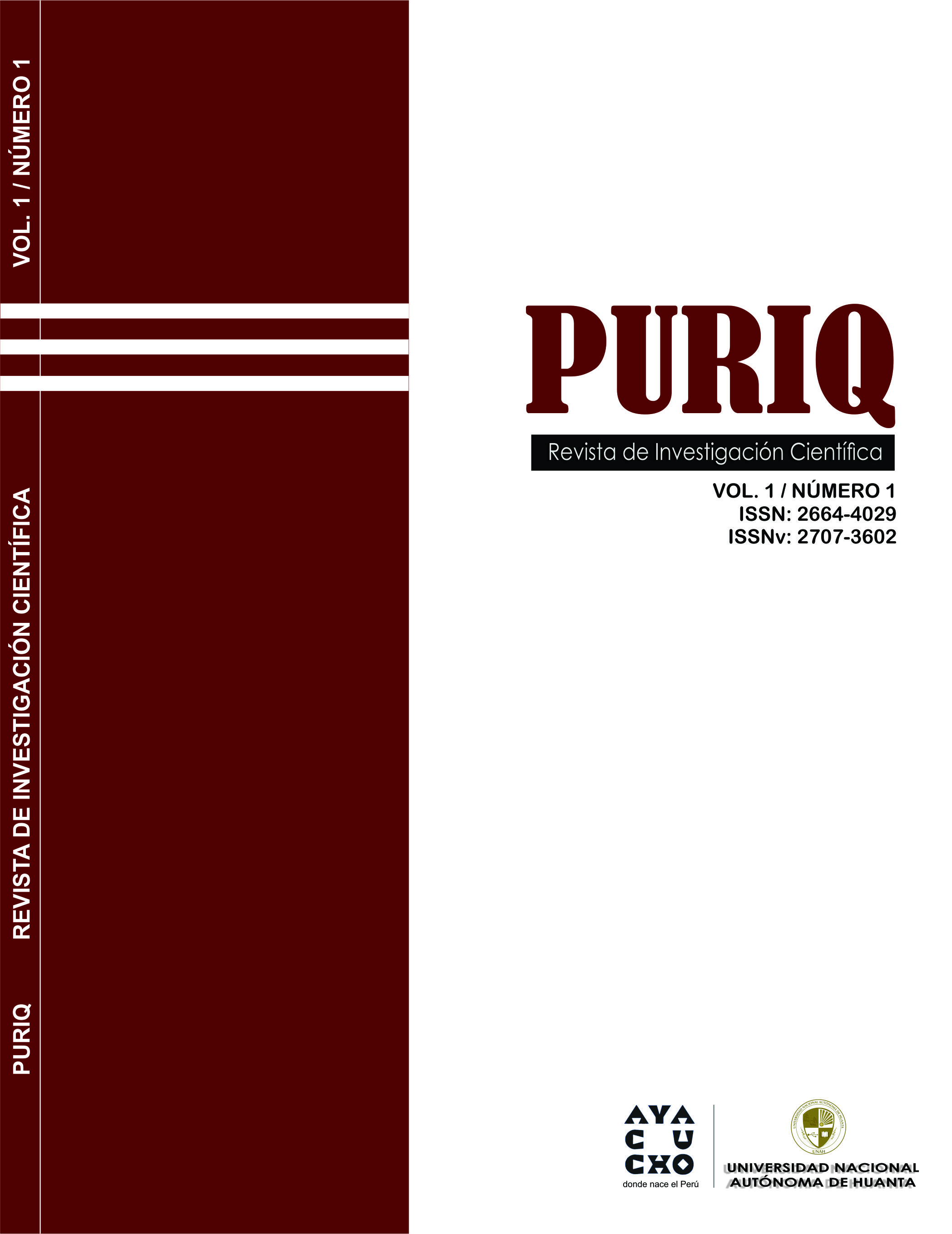 Ver Vol. 1 Núm. 01 (2019): PURIQ (Enero-Junio)