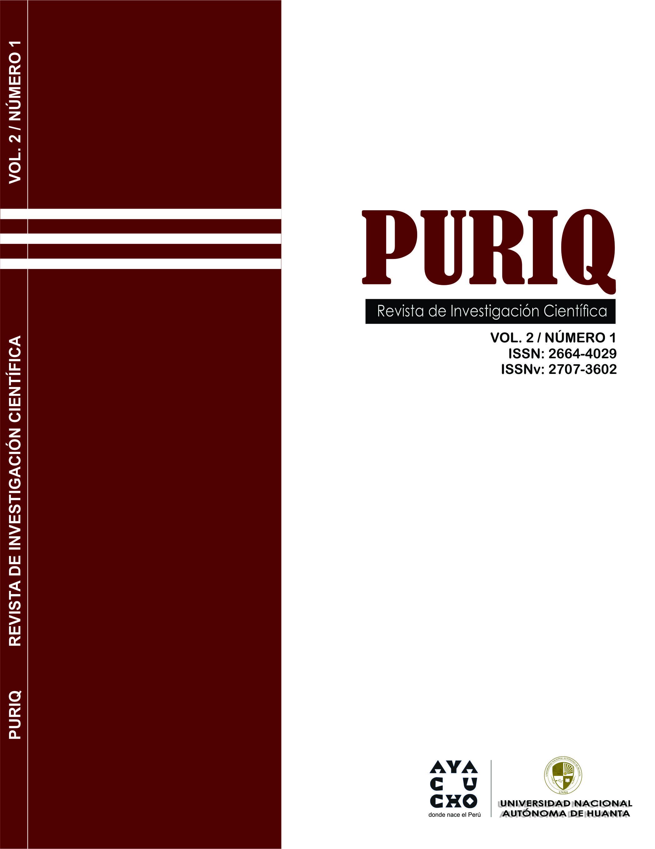 Ver Vol. 2 Núm. 1 (2020): PURIQ (Enero-Abril)